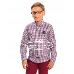 Camisa cuadros burdeos y marino Spagnolo