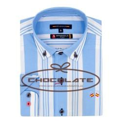 Camisa rayas azul y blanca Spagnolo