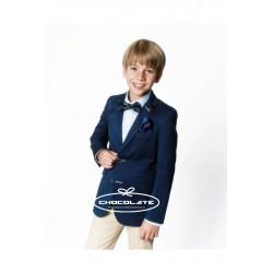 Americana niño azul marino