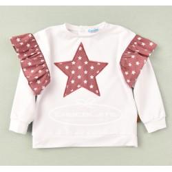 Sudadera blanca estrellas Cocote