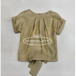 Blusa dorada para niña
