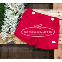Pantalón corto rojo fresa Cocote