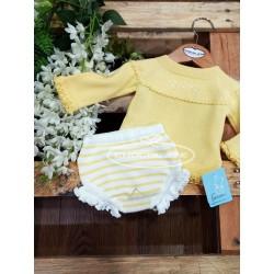 Conjunto amarillo para bebé de Granlei.