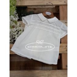 Camisa blanca manga corta de Cocote para niño