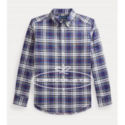Camisa niño cuadros azules Ralph Lauren
