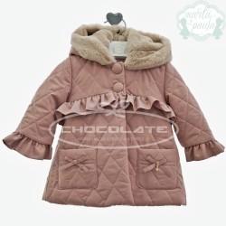 Abrigo acolchado rosa empolvado de Marta y Paula